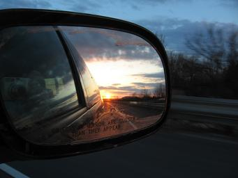 rearview sunset.JPG
